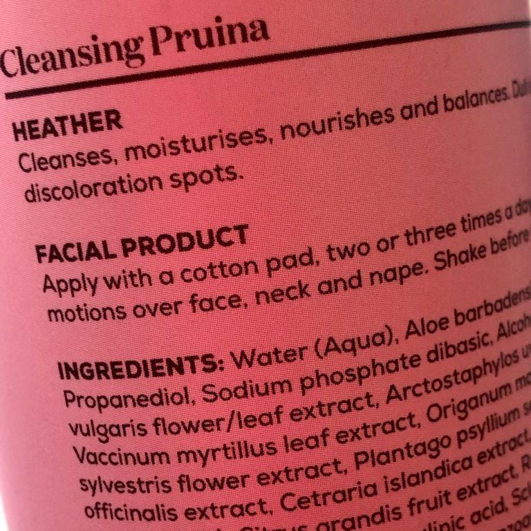 INCI cosmetico de un producto de belleza